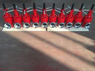 "Red API 6A Mud Gate Valve، 2 ""Fig 1502 Forged Steel Gate Valve 15000 Psi"